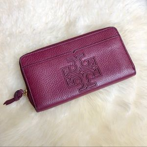 Tory Burch Harper Zip Continental Leather Wallet